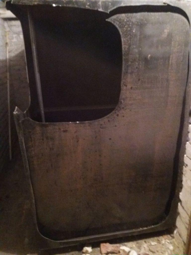 découpage de la citerne mazout de 5000 litres