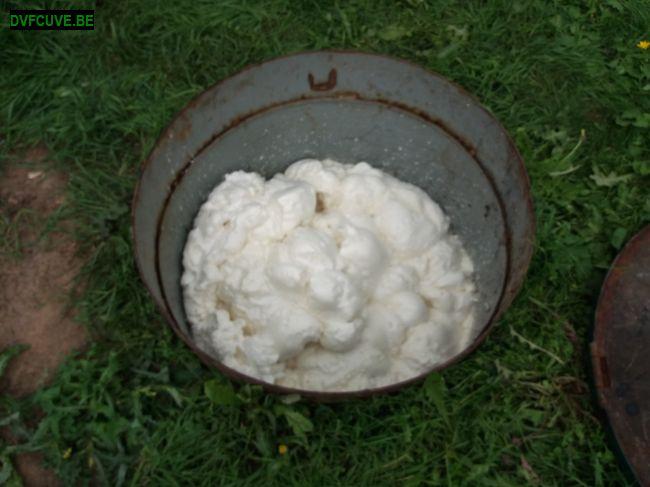 neutralisation cuve fioul enterrée avec mousse