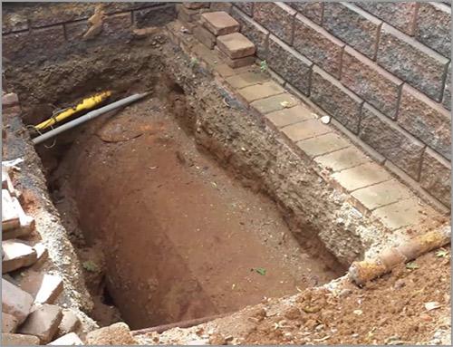 Neutralisation d'une cuve à mazout enterrée