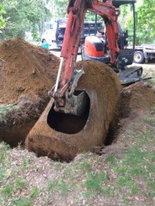 Remplacement cuve à mazout enterrée